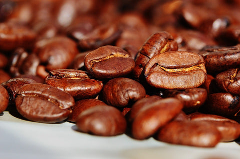 coffee beans. caffeine prevents us from sleep for hours after drinking it.