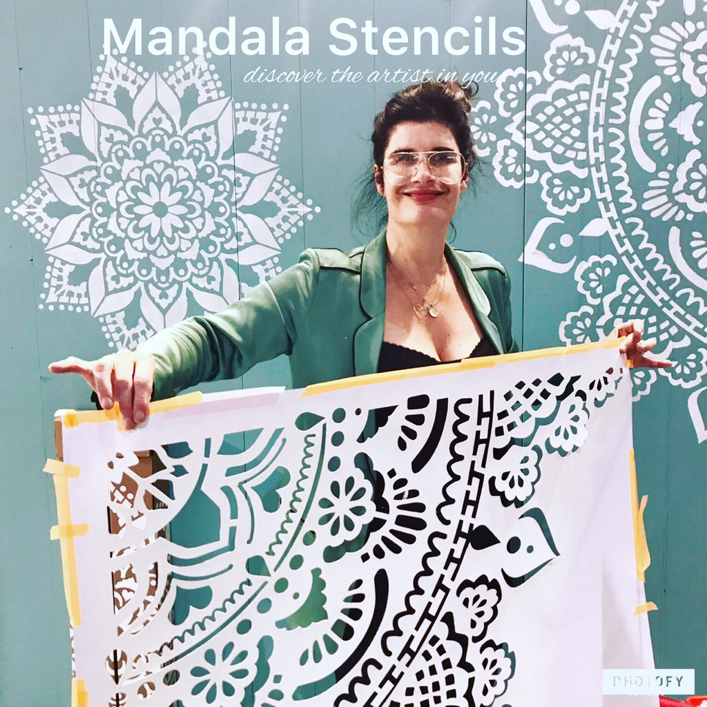 Mandala Stencils at PARIS!