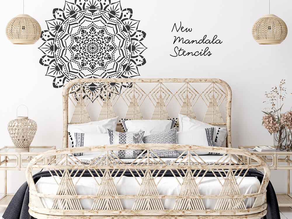 Experience spirituality and Boho Ibiza vibe with our new mandala stencils