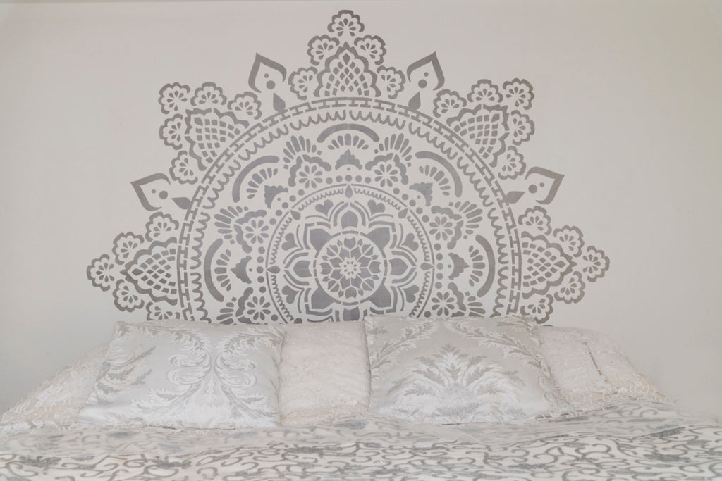 Silver mandala behind my bed