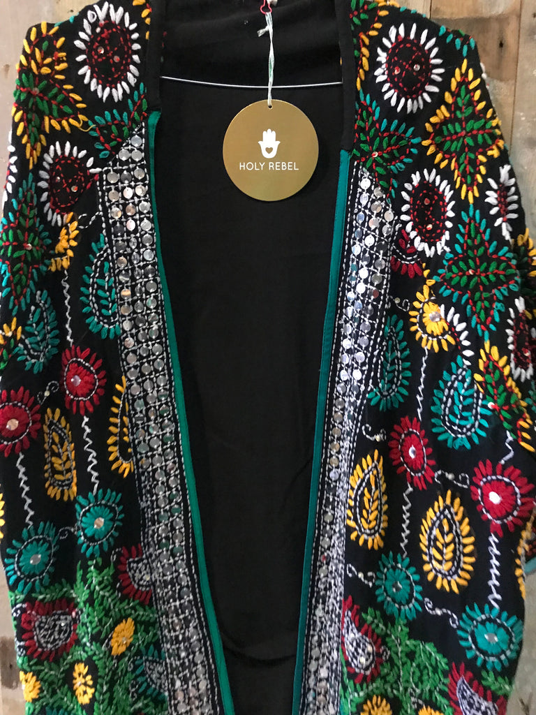 Kimono style fully embroidered cardigan limited edition (one size)