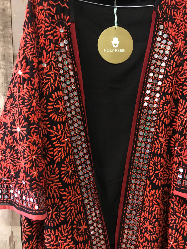 Kimono style full embroidered limited edition one size.