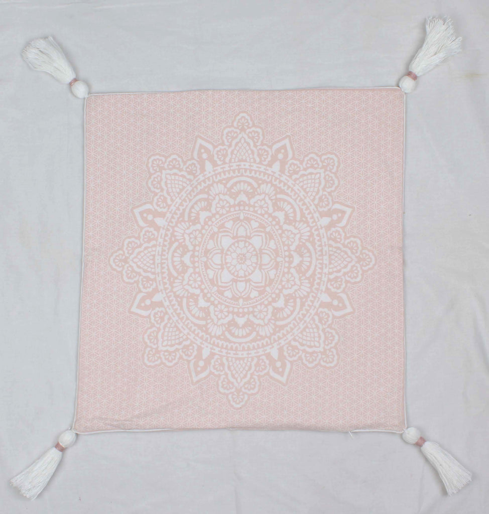 Pink HOLY mandala pillow case/cushion 50x50 cm, 19,5""