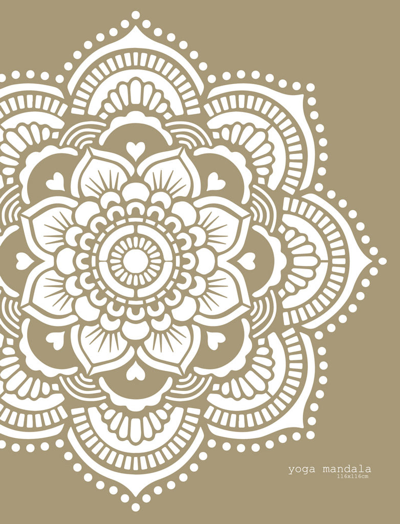 Yoga Mandala stencil Made in Amsterdam 116 x 116 cm,  45""
