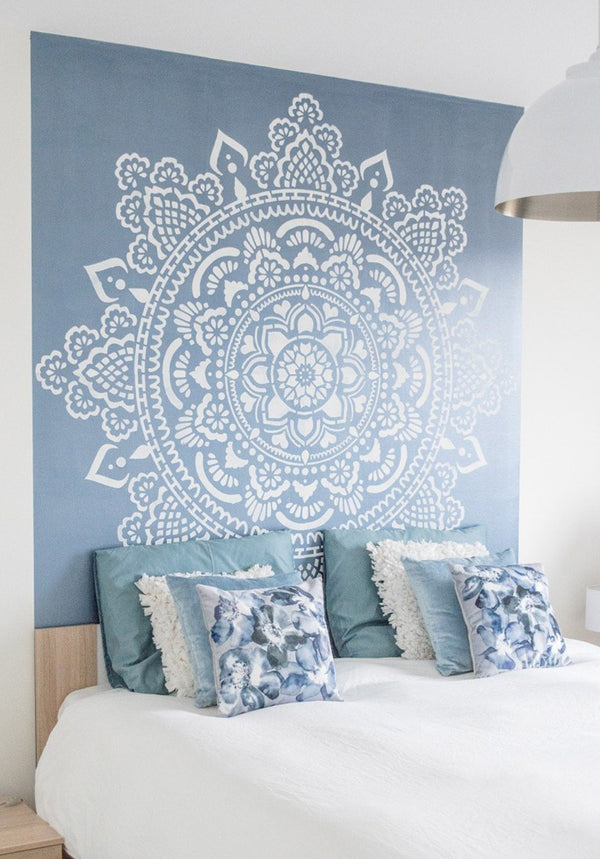 Big wall stencil Holy Mandala 184x184cm, 73""