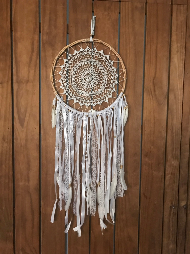 Dream catcher white rotan 32cm