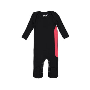 RIBBED BLACK ONESIE