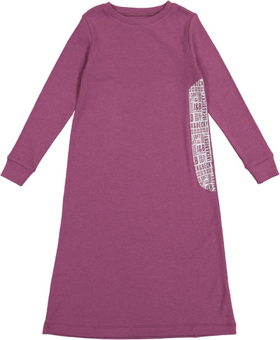 J&B SOFT RIB DAMSON NIGHTGOWN