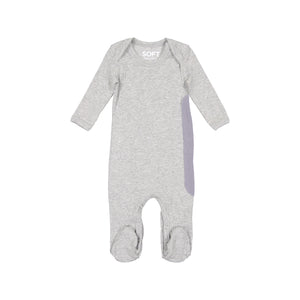 RIBBED HEATHER GREY ONESIE