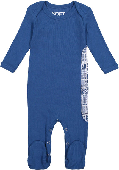 J&B SOFT RIB DARK BLUE ONESIE