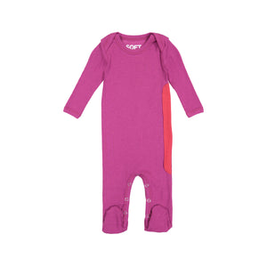 RIBBED BERRY ONESIE