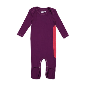 RIBBED PURPLE ONESIE