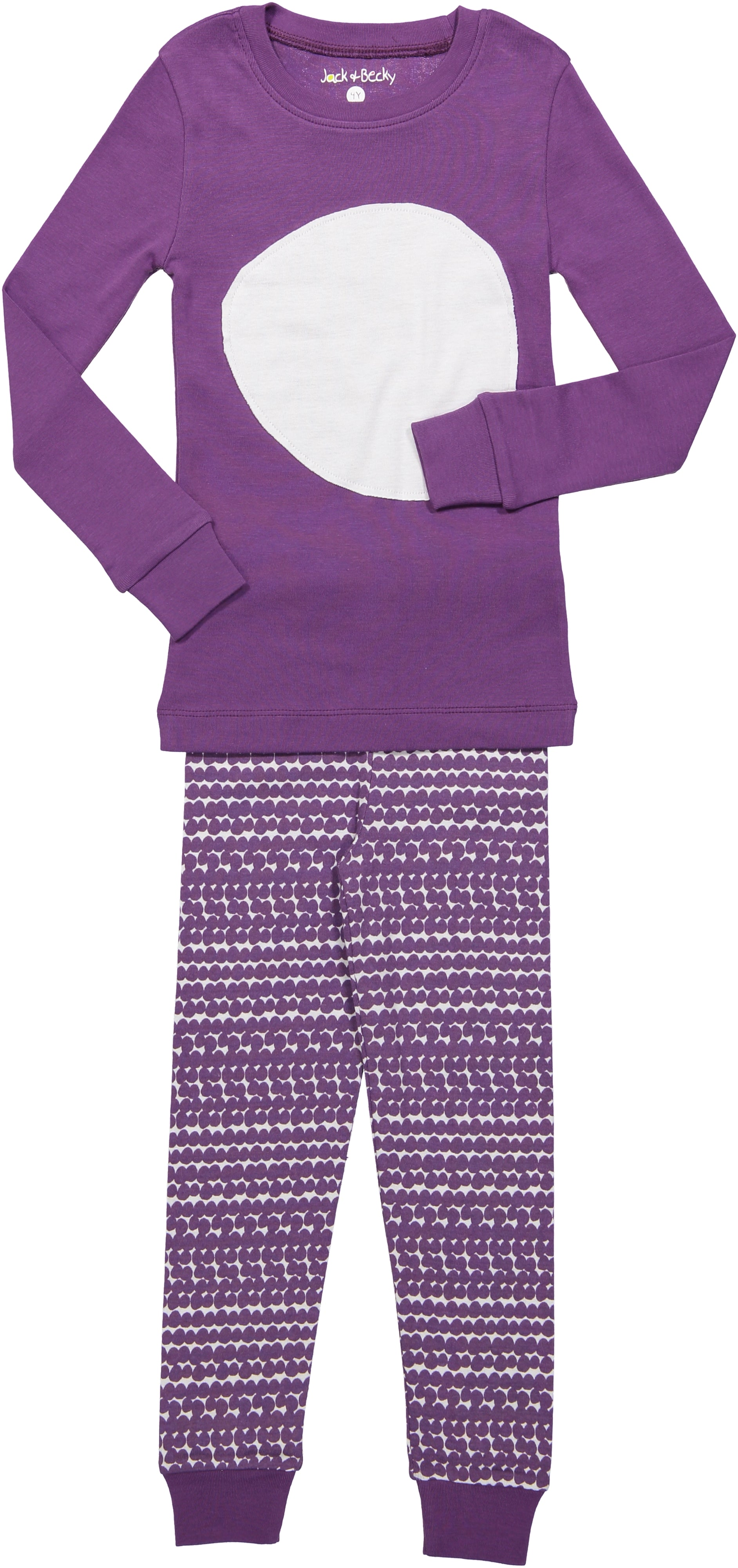 Jack and Becky Lilac Pajamas With Lilac Circle Print