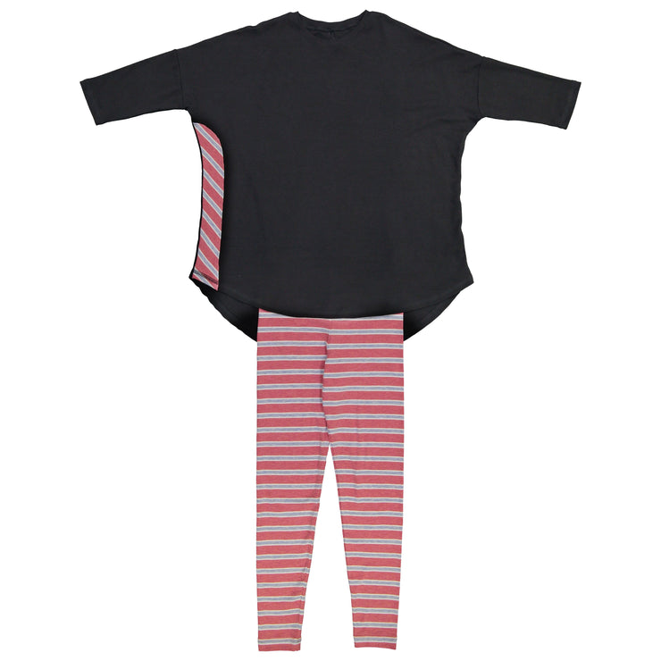 STC THE SOFT TEEN COLLECTION Black & Rose Pajama