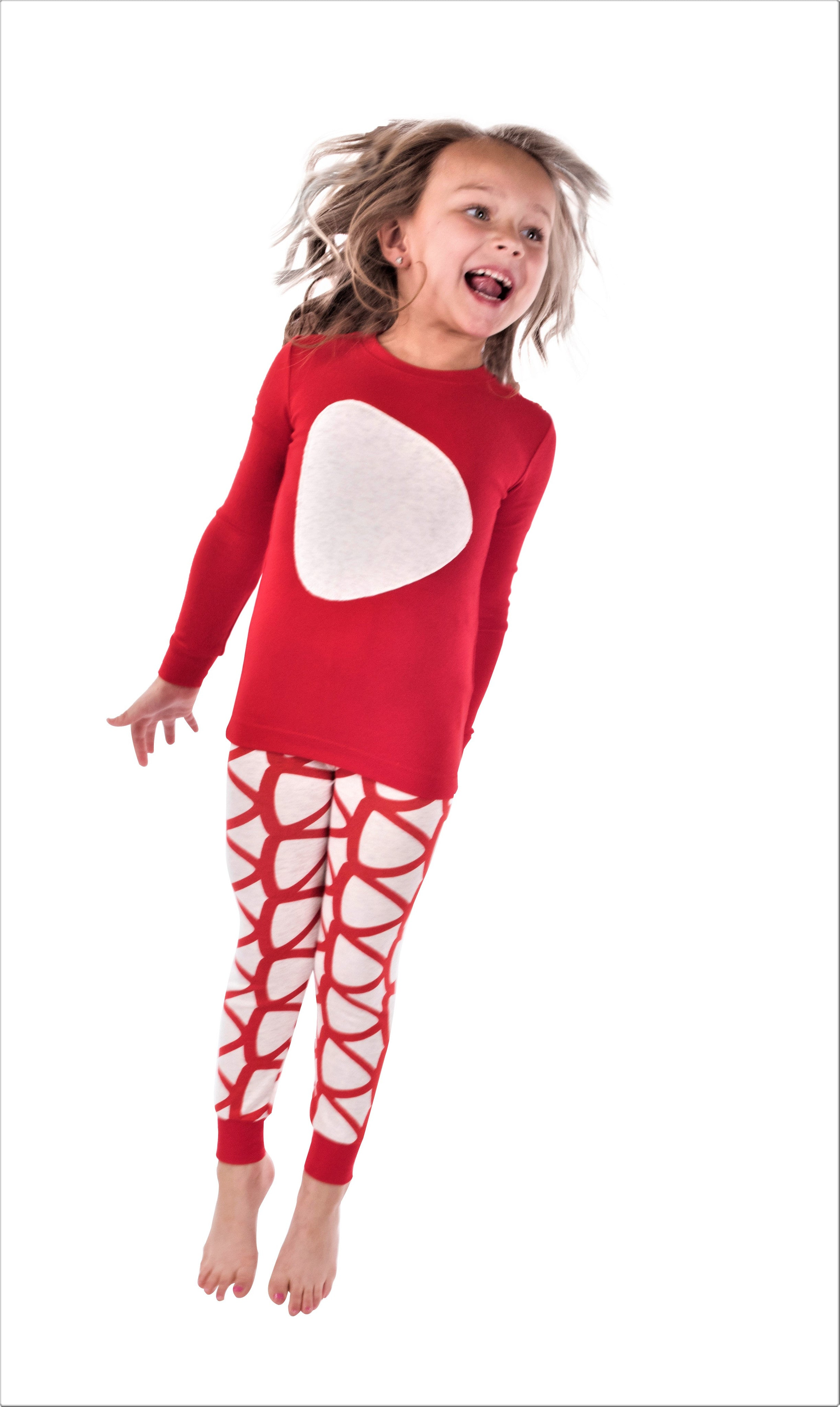 Jack and Becky SOFT Red Pajamas With Triangle Patch
