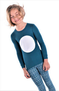 Jack and Becky SOFT Blue Bamboo Pajamas With Circle Patch