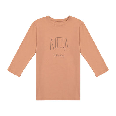 GIRLS SWINGS IN BLUSH 3/4 SLEEVE T SHIRT