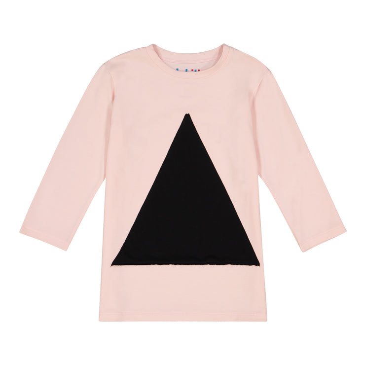 GIRLS TRIANGLE IN PINK 3/4 SLEEVE T SHIRT