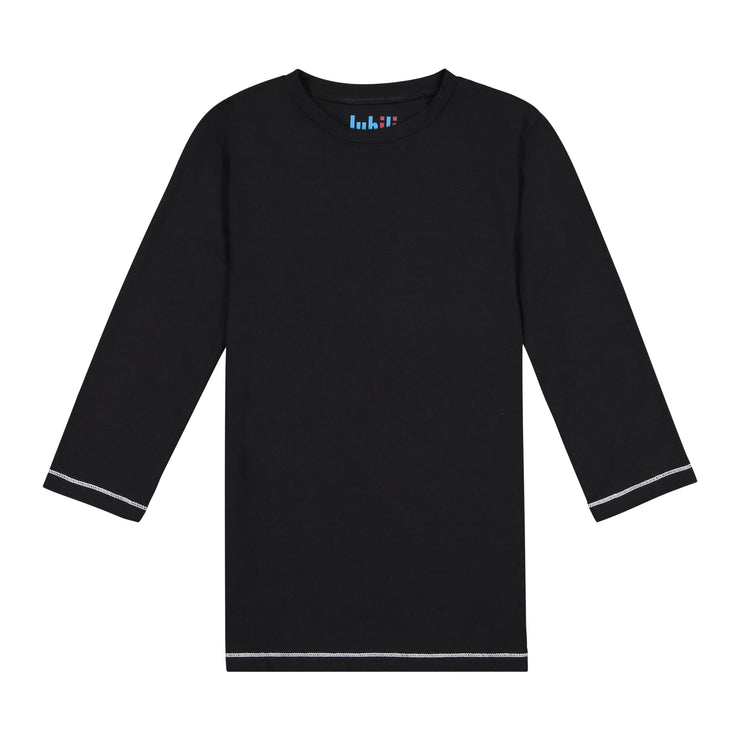 IVORY IN BLACK 3/4 SLEEVE T SHIRT
