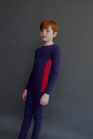 RIBBED ASTRAL BLUE BOYS PAJAMA