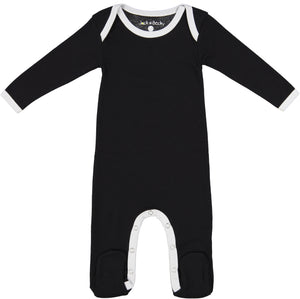 Jack and Becky Solid Black Onesie