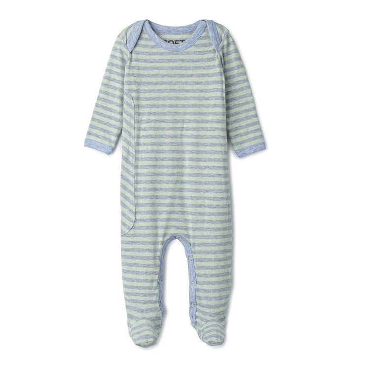 J&B STRIPE COLLECTION Aqua And Dusty Blue Onesie