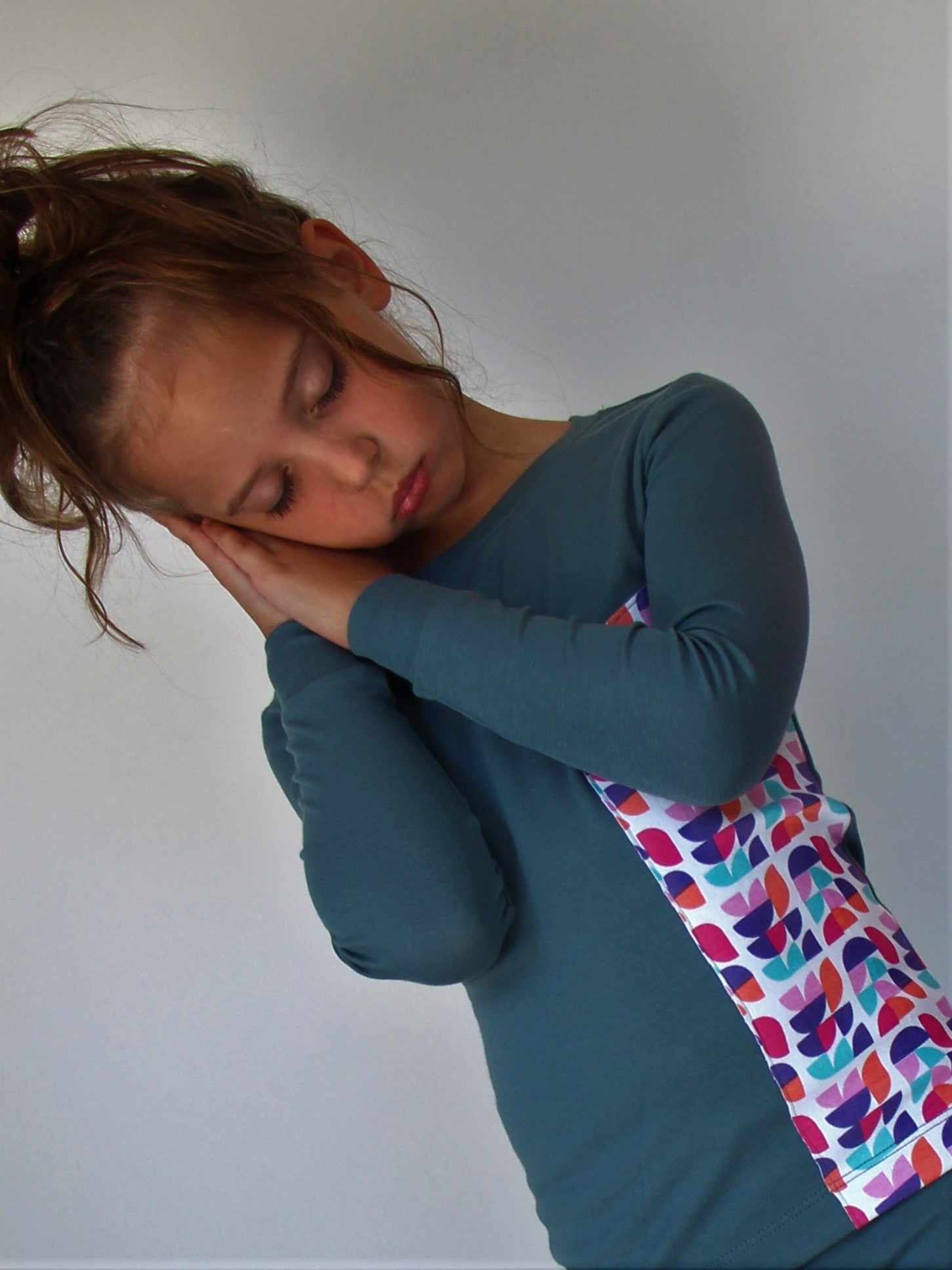 FALL BLUE GEOMETRIC GIRLS PJ