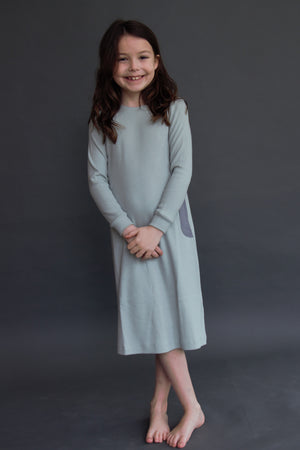 RIBBED PIGEON NIGHTGOWN
