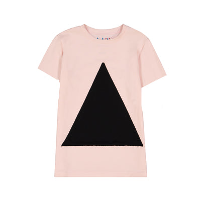 GIRLS TRIANGLE IN PINK SHORT SLEEVE T SHIRT