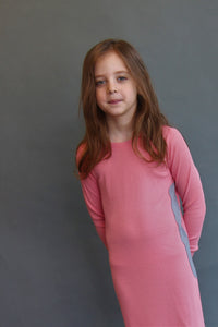 RIBBED PINK NIGHTGOWN