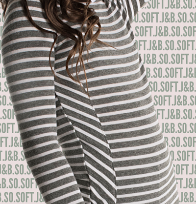 J&B STRIPE COLLECTION Ivy And White Onesie