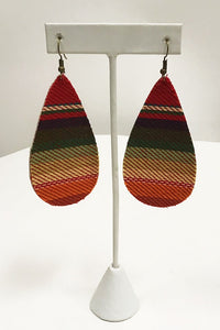 Red Serape Earrings
