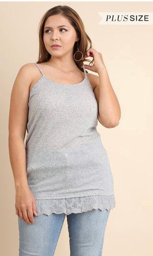 Misfit Lace Bottom Tank Top Regular & Curvy