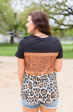 Buckstitich Babe Tooled  & Leopard Top
