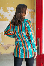 Texas Cutie Serape Caged Tunic Top