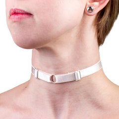 Day Collar in White Satin from LVX Supply & Co.
