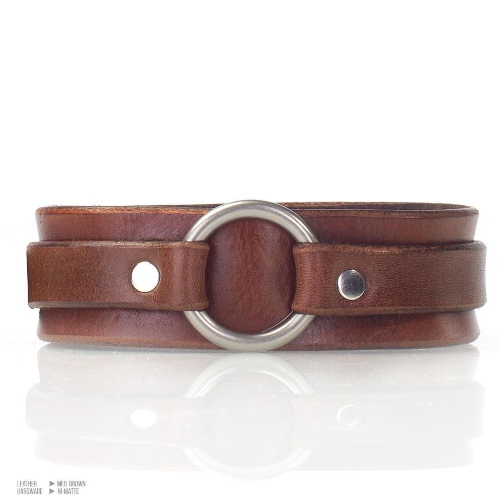 Classic O-Ring Day Collar [Suede Lined]