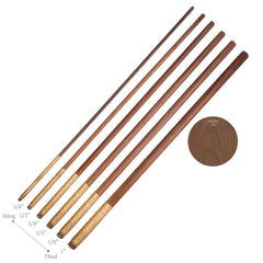 Array of Walnut Spanking Canes for BDSM and Bondage Play
