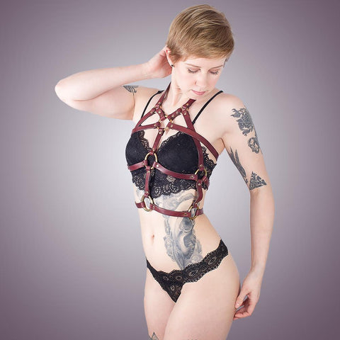 Leather Chest Harness for BDSM, Bondage, or Fashion | Handmade by LVX Supply