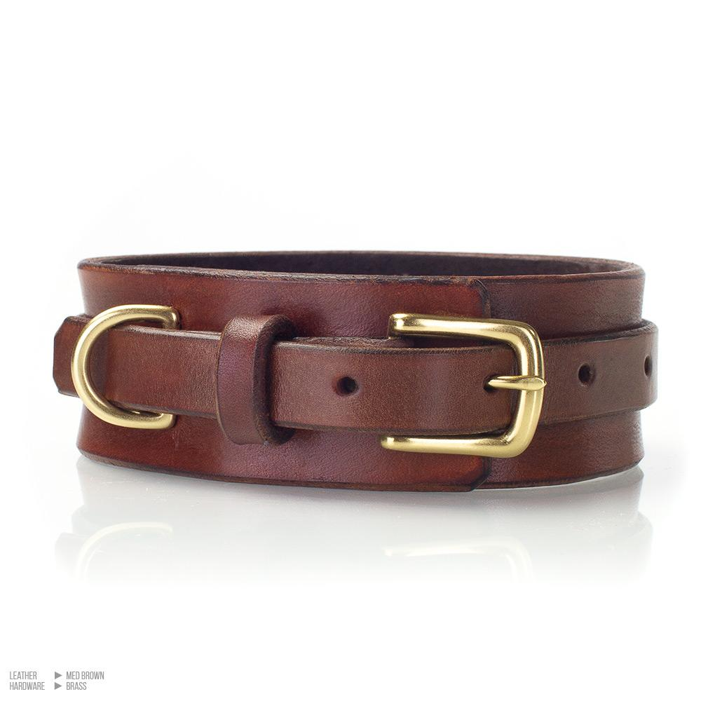 BDSM Collar | Suede Lined Leather Bondage Collar | Handmade by LVX Supply & Co