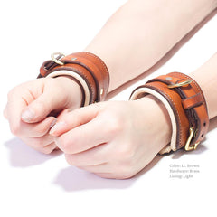 Padded BDSM Cuffs for Wrists and Ankles | Custom Handmade by LVX Supply | Richmond, VA, USA