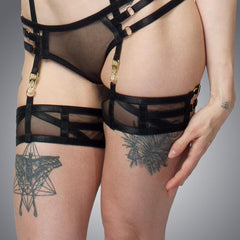 Deco Thigh Garter | Handmade Lingerie by LVX Supply & Co.