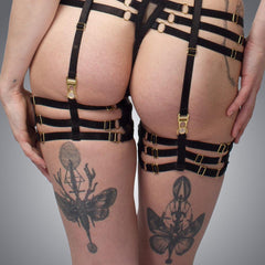 Deco Thigh Garter | Handmade Lingerie by LVX Supply & Co