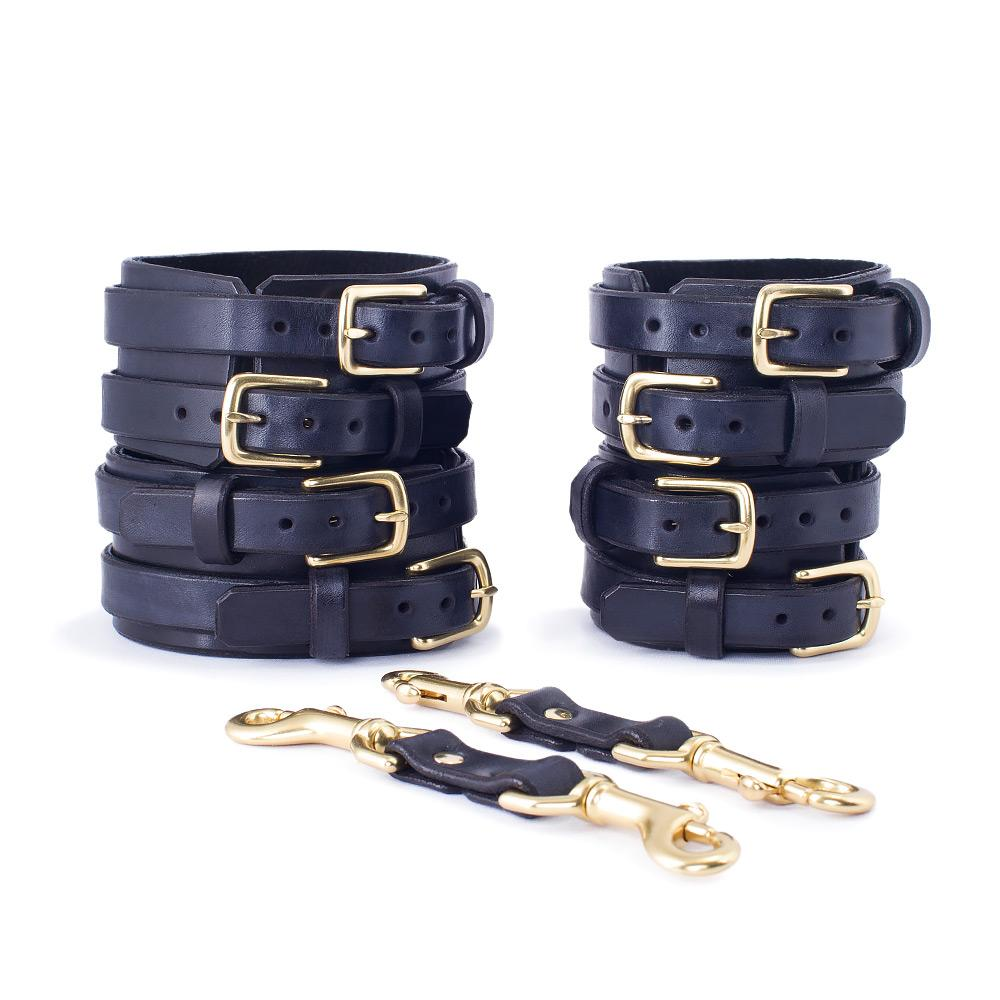 Dual Buckle Bondage Cuffs SET