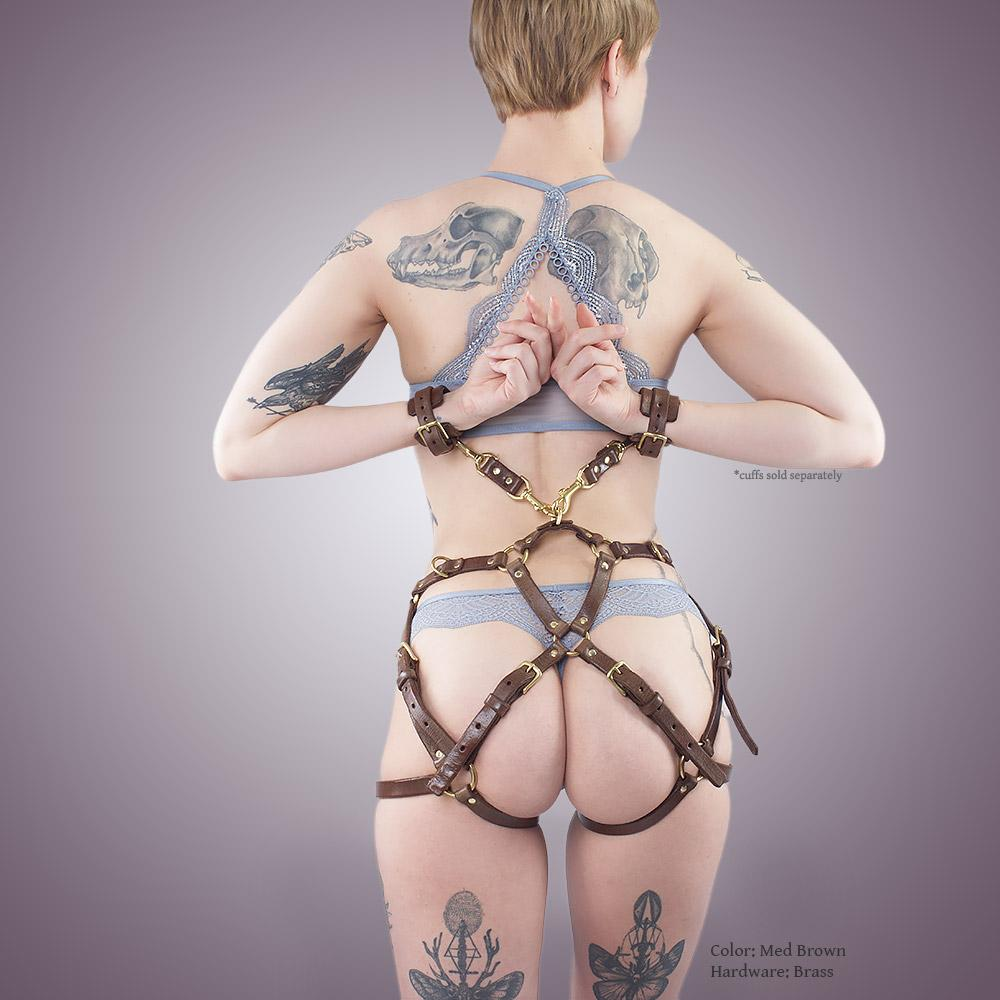 Leather Hip Harness for BDSM Bondage | Premium Fetish for Adults by LVX Supply