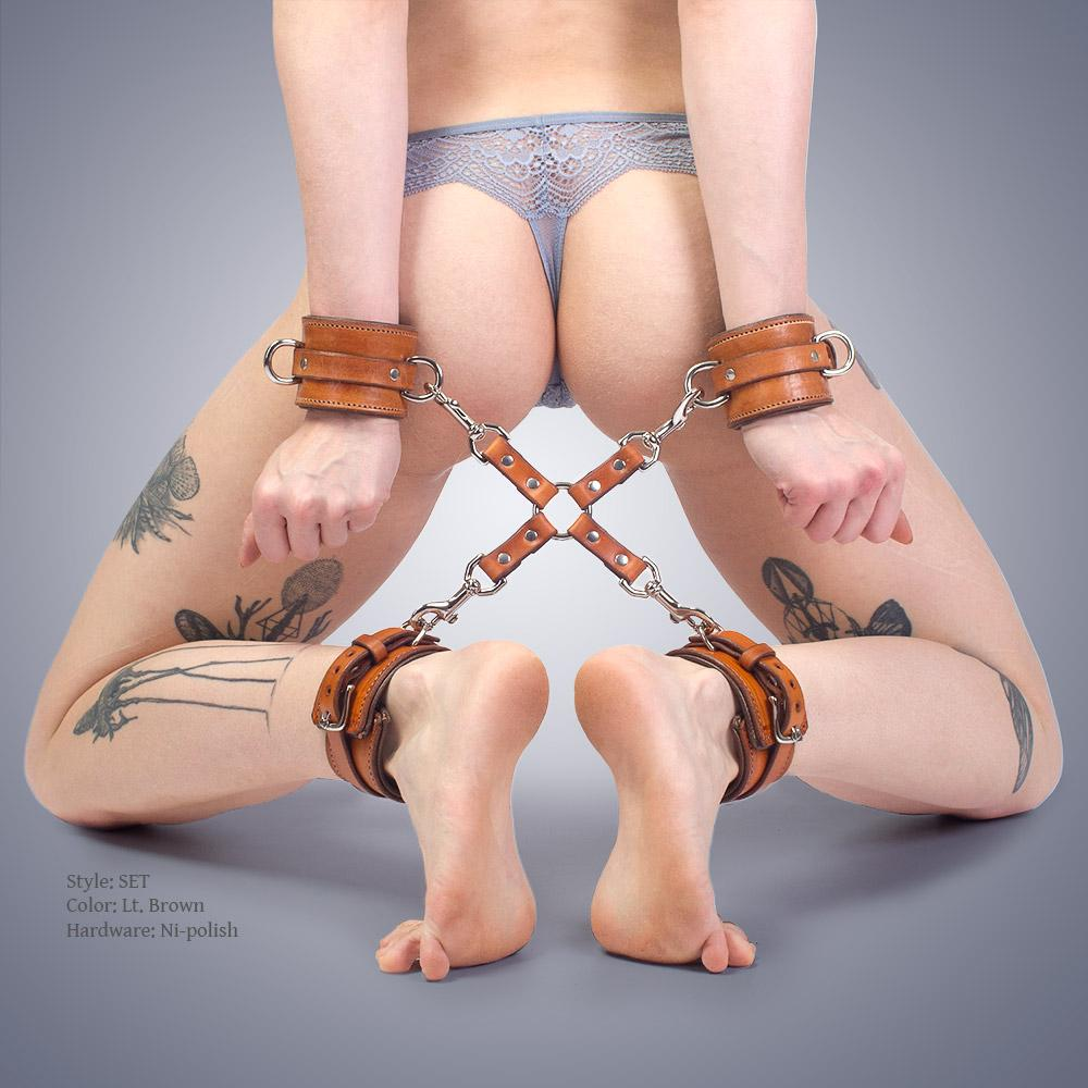 Padded Hogtie Set for BDSM, DDLG, Bondage, Femdom | Leather Bondage by LVX Supply Hogtie Set