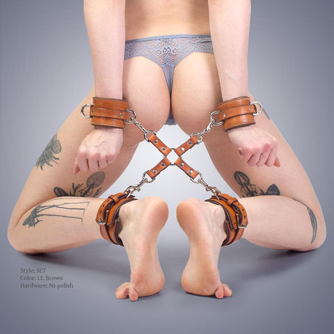 Padded Hog Tie & Cuffs Set