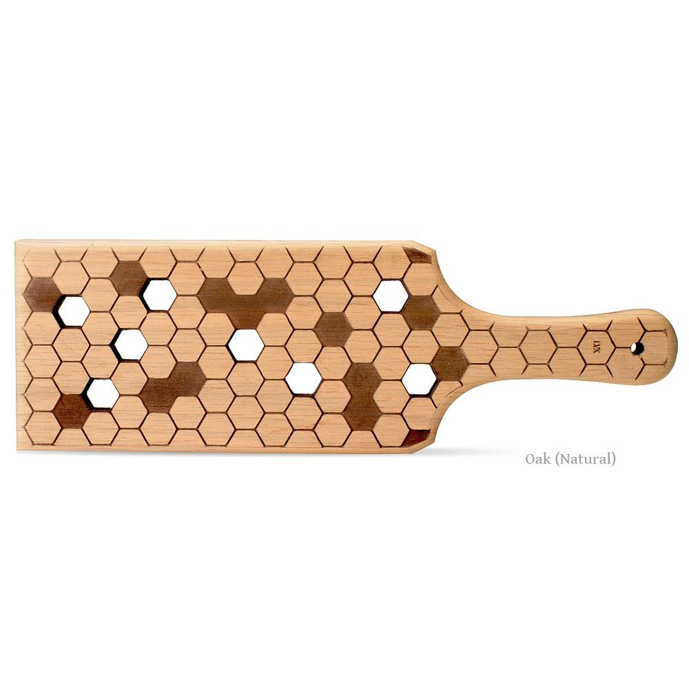 Oak Honeycomb BDSM Spanking Paddle | Handmade Wood Paddle by LVX Supply & Co,
