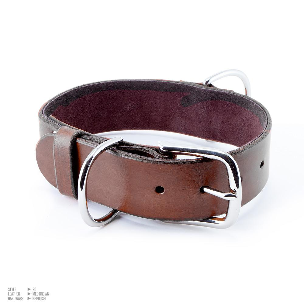 Simple Large Buckle Collar [Suede Lined]