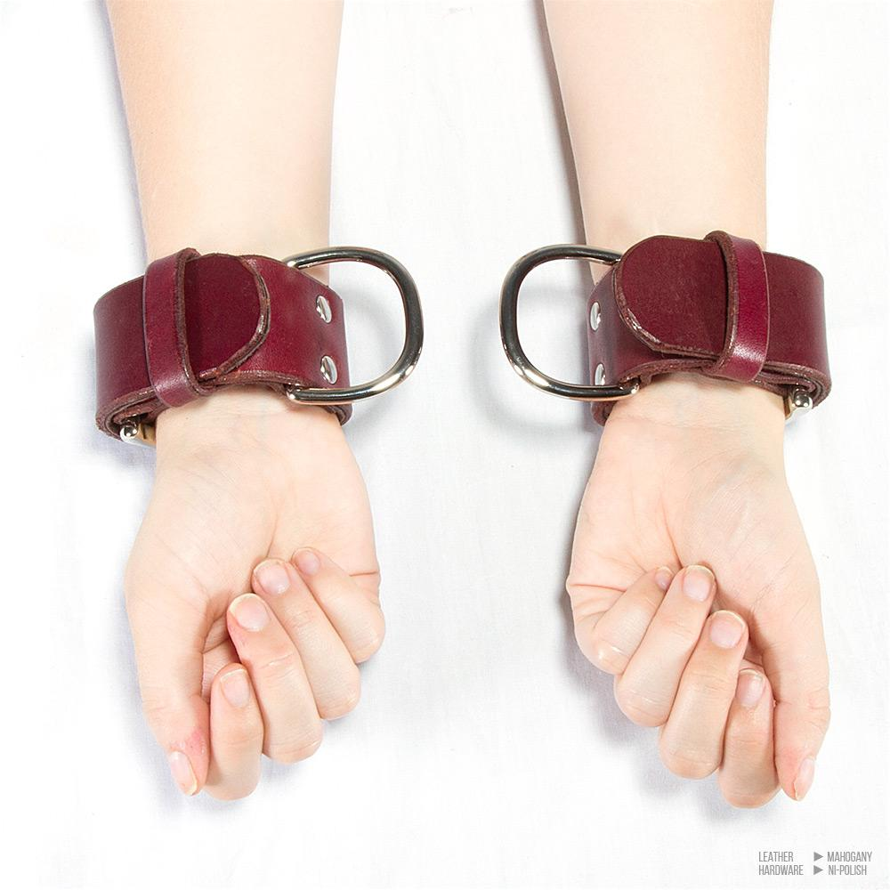 Large Buckle Bondage Cuffs